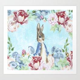 Hoppy The Bunny Art Print