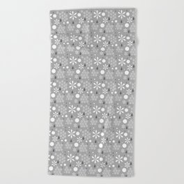 Abstract Winter In Gray Beach Towel