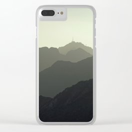 MOUNTAINS SILHOUETTE Clear iPhone Case
