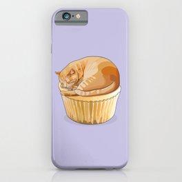 Orange Tabby Cat Cupcake iPhone Case