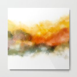 Soft Marigold Pastel Abstract Metal Print