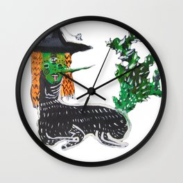 BRUJA DE NOPALES/CACTUS WITCH Wall Clock
