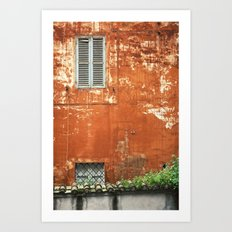 Rusty Housewall Art Print