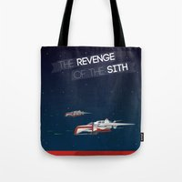 sith Tote Bags featuring Revenge of the Sith by Clément Tholance