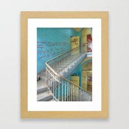 Lost Places, Beelitz Heilstaetten stairs Framed Art Print