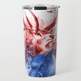 Red Stag and Blue Boar Travel Mug