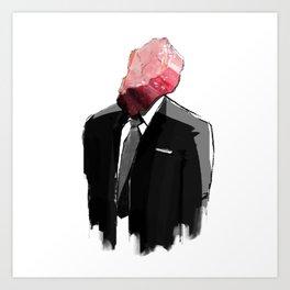 Char Siu Head (roast pork in suit) Art Print