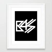 bass Framed Art Prints featuring BASS by DropBass