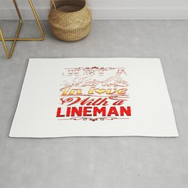 In love with a Lineman Rug