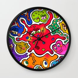 Jigsaw Germs Wall Clock