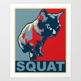 """Squat"" the Squirrel Cat. Art Print"