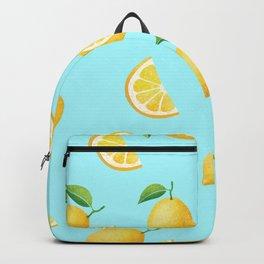 Lemons on Blue Backpack