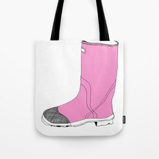 Whimisical Wellie in Pink Tote Bag