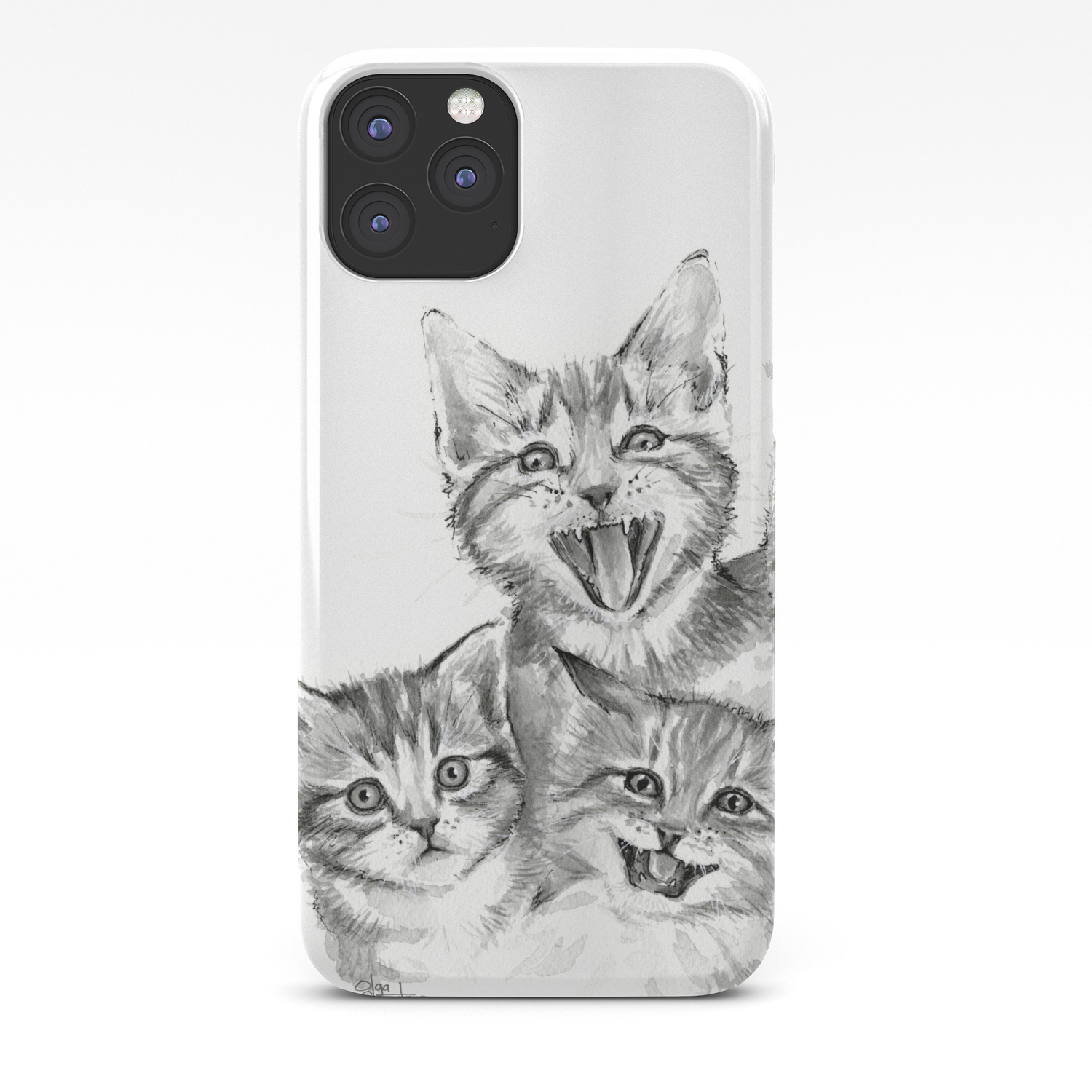 Kittens Pattern Cute Meowing Cats Iphone Case