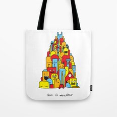 Monster Tower Tote Bag