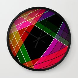 Colored silk Wall Clock