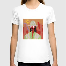 Sunglasses at night. T-shirt