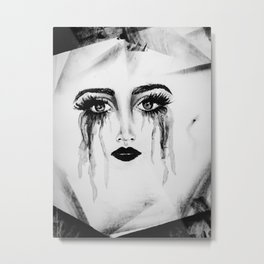 Expressionless Expression Metal Print