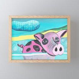 Exuma Swimming Pigs Framed Mini Art Print
