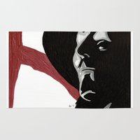 vendetta Area & Throw Rugs featuring V For Vendetta by Paxelart