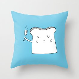 Champagne Toast Throw Pillow