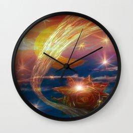 Good Morning Moon Wall Clock