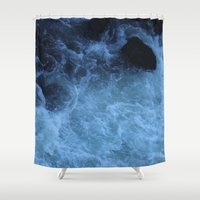 rush Shower Curtains featuring Overhead Rush by Jeffrey J. Irwin