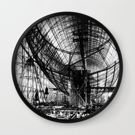 Airship under construction Wall Clock