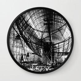 Airship under construction Wall Clock