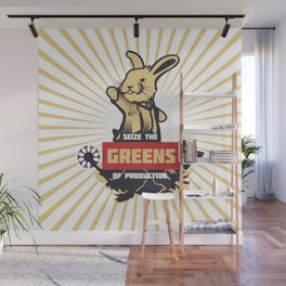 Seize the GREENS of production Wall Mural