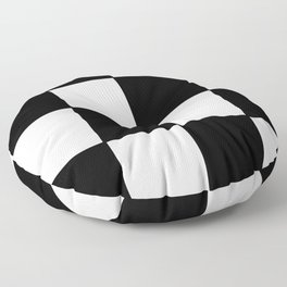 Checkered,black and white checked pattern.Gingham. Floor Pillow