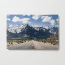 The Open Road to Sequoia National Park Metal Print
