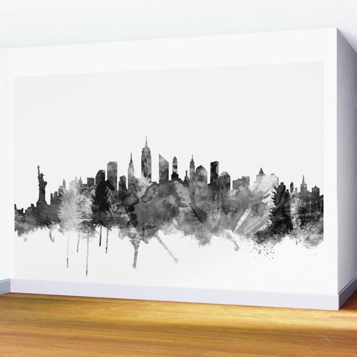 New York City Skyline Wall Mural By Artpause Society6
