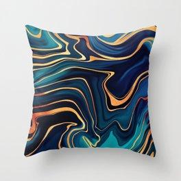 Azurite Waves Throw Pillow