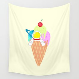 Space Odyssey Ice Cream | Astronaut Ice Cream | Space Ice Cream | Galaxy Ice Cream | pulps of wood Wall Tapestry