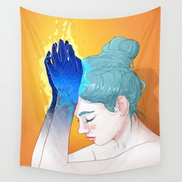Fire Hands Wall Tapestry