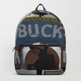 Buckaroo Motel Route 66 Vintage Neon Sign Nostalgia Backpack