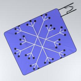 Mod Snowflake Purple Picnic Blanket