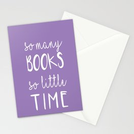 so many books, so little time Stationery Cards