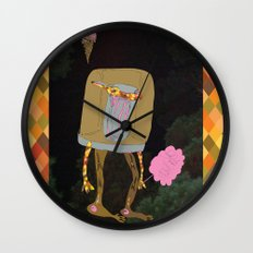 Silence Walks Wall Clock