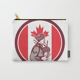 Canadian Bagpiper Canada Flag Icon Carry-All Pouch