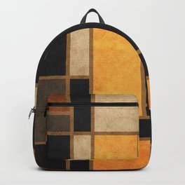 Mondrian Inspired 3 - Modernist Geometric Abstract Backpack