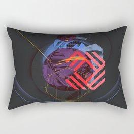 Chaotic Polygon Ensemble Rectangular Pillow
