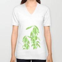 avocado V-neck T-shirts featuring Avocado by Maria Nordtveit