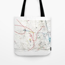 Modern Lint Art Tote Bag