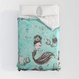 Audrey Mermaid Pattern 10 Comforters
