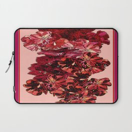 Cranberry-Pink Color Floral Brown Pattern Laptop Sleeve