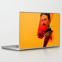 tesla Laptop & iPad Skins featuring Tesla by Chincol