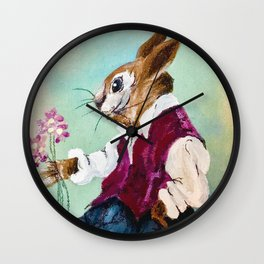 Bre'r Rabbit  Goes A-Courtin Wall Clock