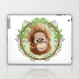 Baby Orangutan in Jungle Wreath Laptop & iPad Skin